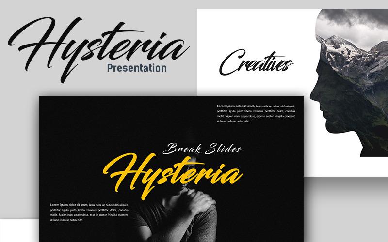 Hysteria Creative Presentation PowerPoint Template