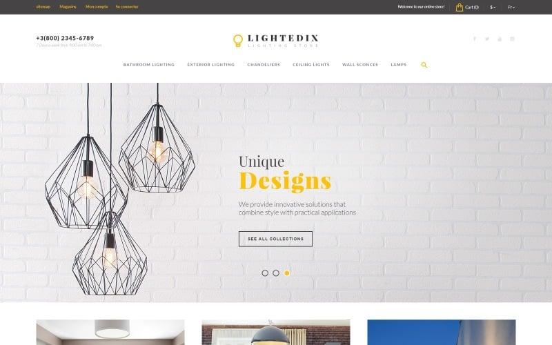 Lightedix - Lighting Store PrestaShop Theme