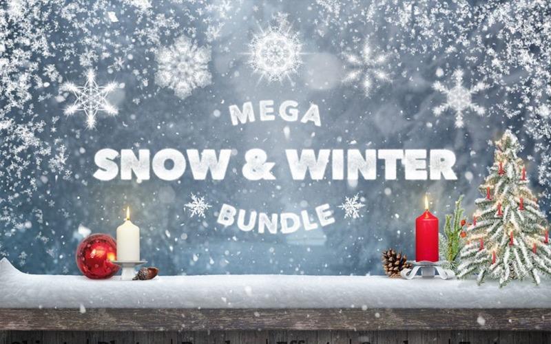 Éléments d'interface utilisateur Mega Snow et Winter Bundle