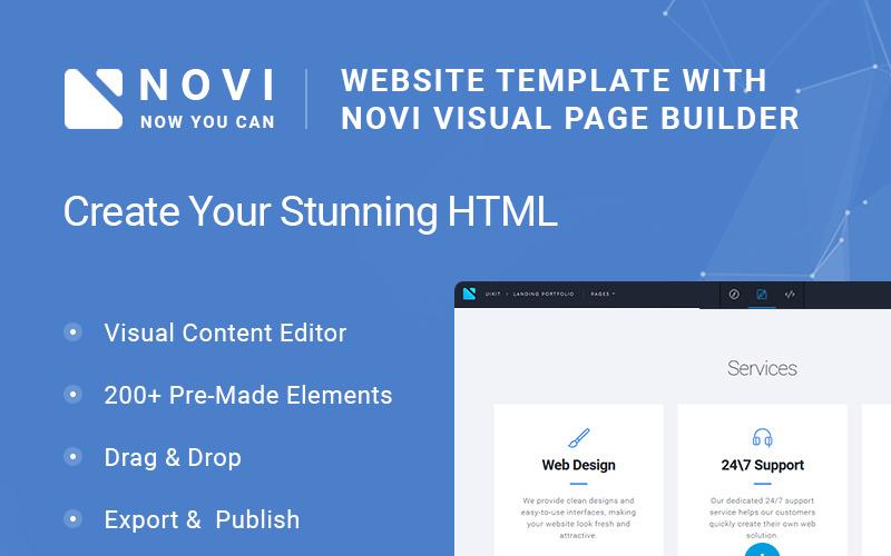 Novi - Corporate & Business Multipurpose met HTML Builder-websitesjabloon
