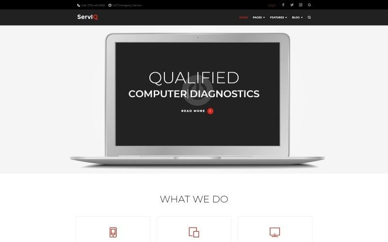 ServIQ Computer Repair Services WordPress Theme