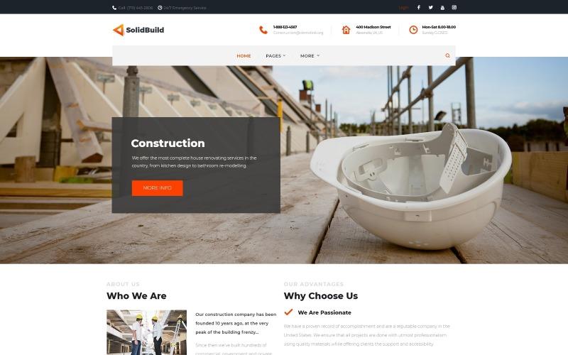 SolidBuild - тема WordPress для строительных компаний