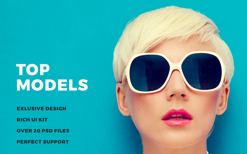 Top Models PSD Template
