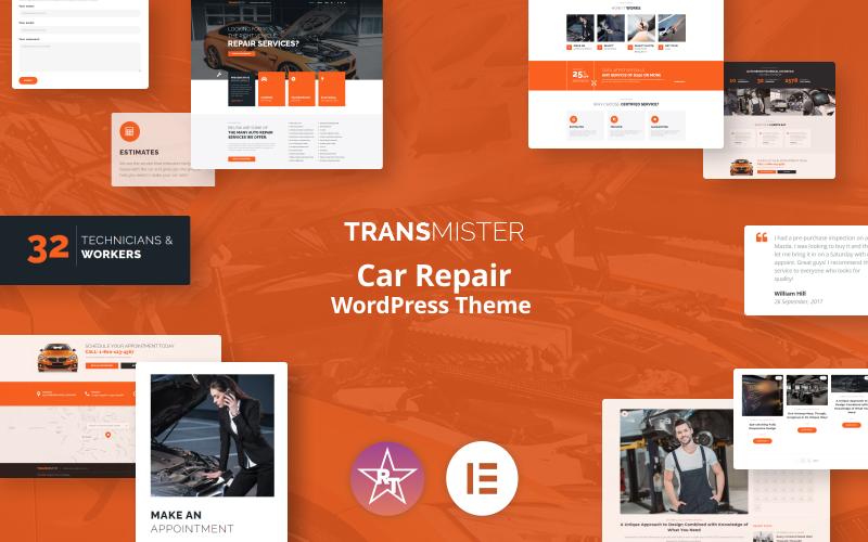 Transmitter - тема WordPress для ремонта автомобилей