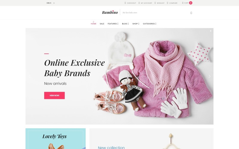 Bambino - Thème WooCommerce réactif pour Baby Store
