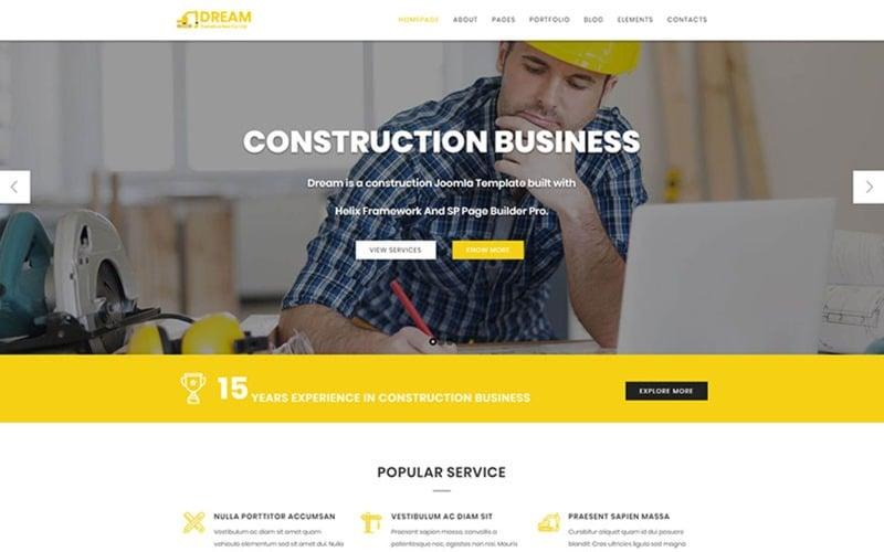 Dream - Шаблон Joomla Construction