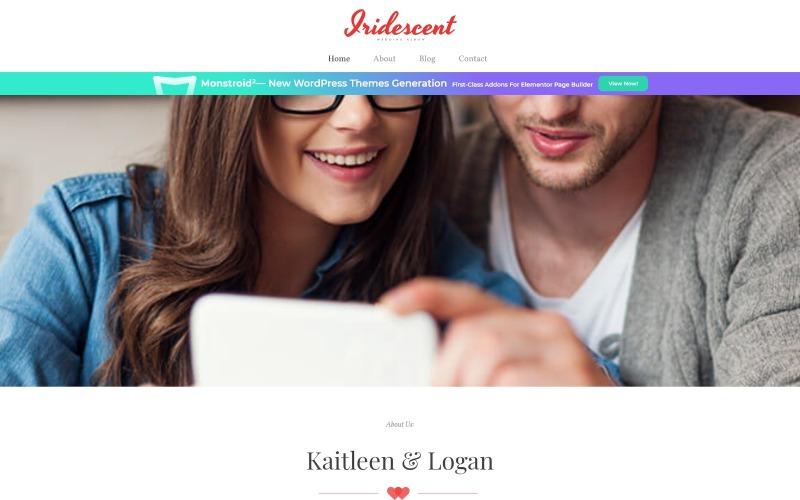 Iridescent - бесплатная тема WordPress для свадебного альбома