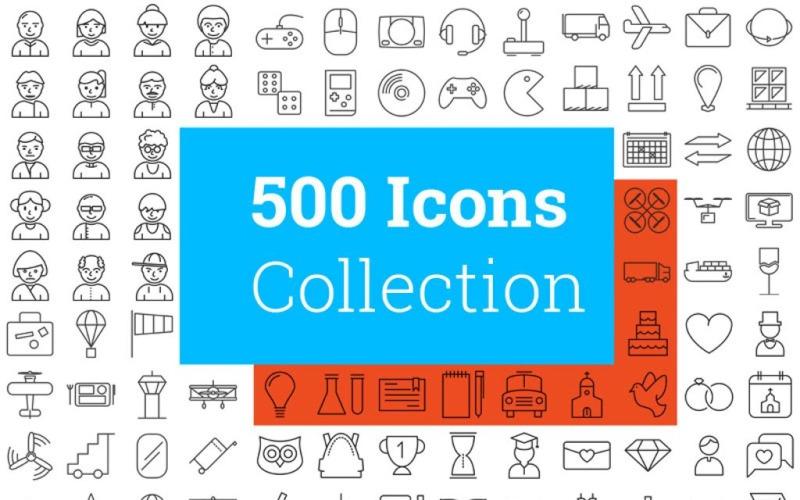 500 Modern Icon Set