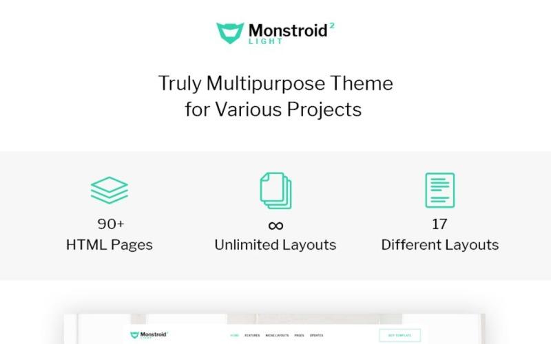 Monstroid2 Light - Modèle de site Web polyvalent