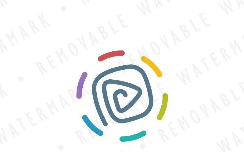 Шаблон логотипа древней руны