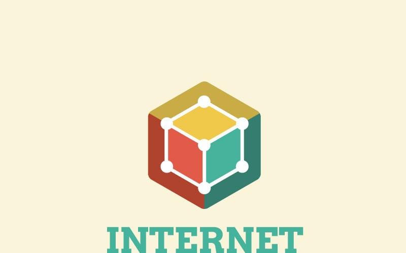 Шаблон логотипа Интернет вещей