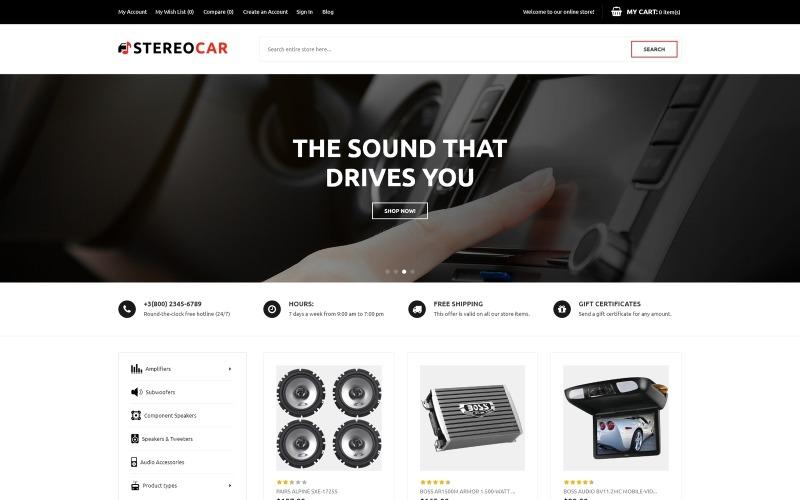 StereoCar - Thème Magento pour Car Audio Store