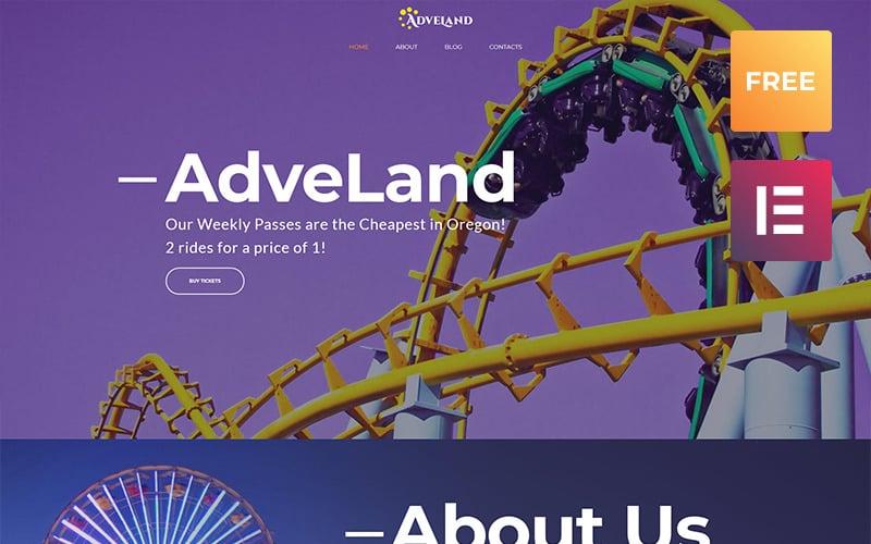Tema de WordPress del parque de atracciones de Adveland