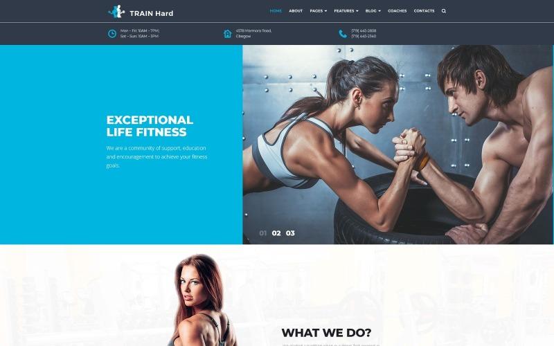 Trainiere Hard Fitness WordPress Theme