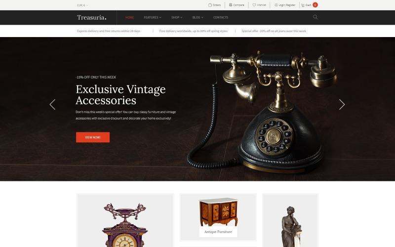 Treasuria - Antiek en vintage WooCommerce-thema