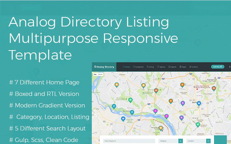 Analog Directory Listing Mehrzweck-Responsive + RTL-Website-Vorlage