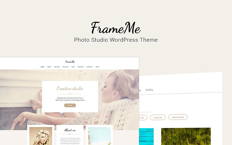FrameMe - motyw WordPress dla studia fotograficznego