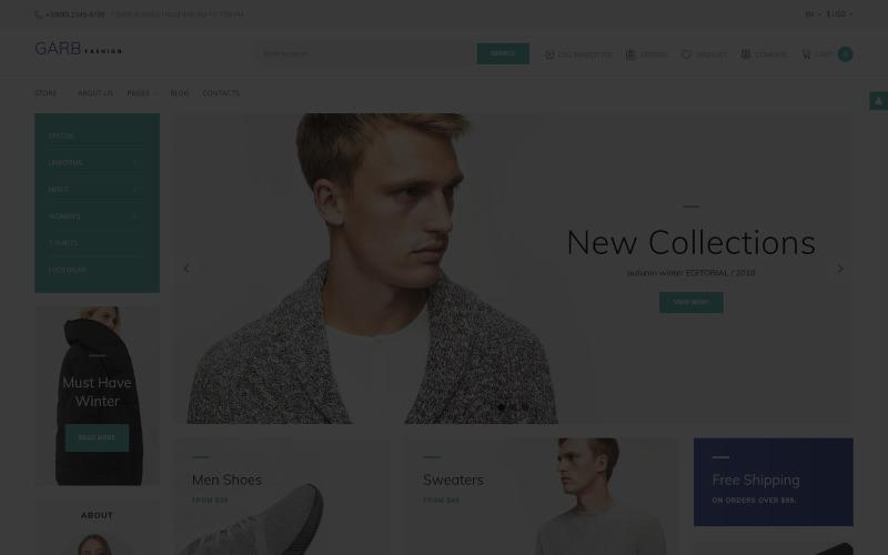 Garb Fashion - шаблон модного магазину Joomla