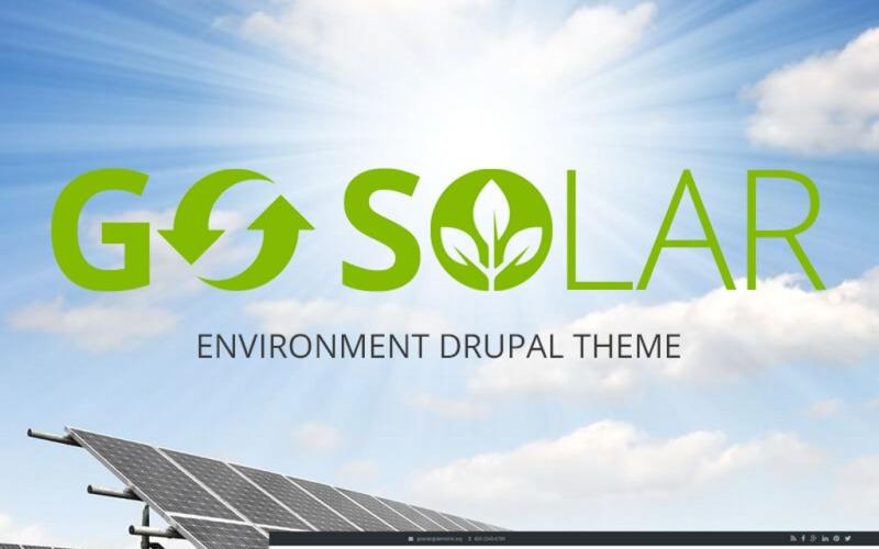 Go Solar - Modèle Drupal Eco & Nature / Environnement