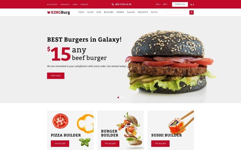 KingBurg - Шаблон OpenCart для бургеров