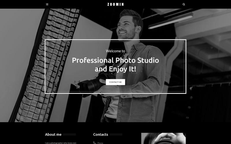 Zoomin - Tema de WordPress para portafolio de fotógrafos