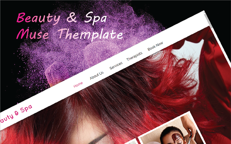 Beauty & Spa Adobe Responsive Muse Template