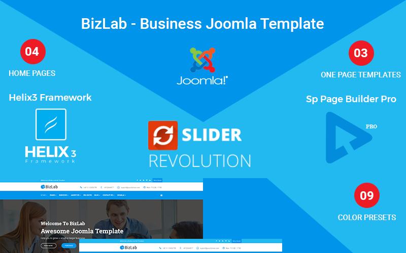 BizLab - Business Joomla Template