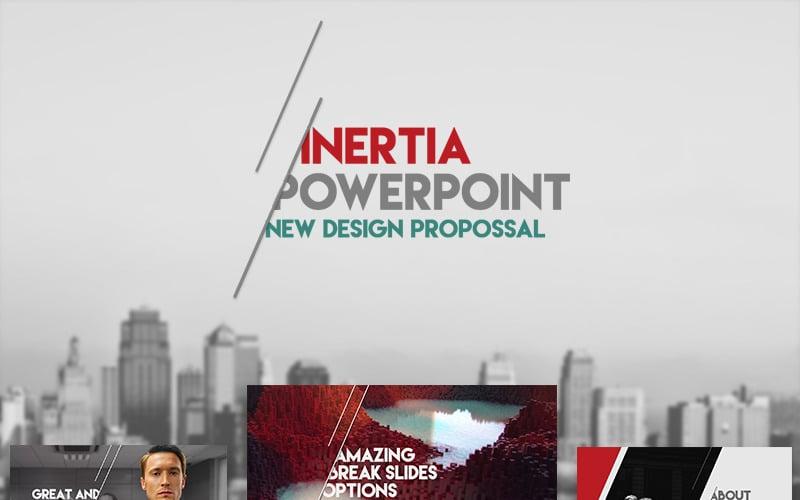 Modèle PowerPoint de inertie