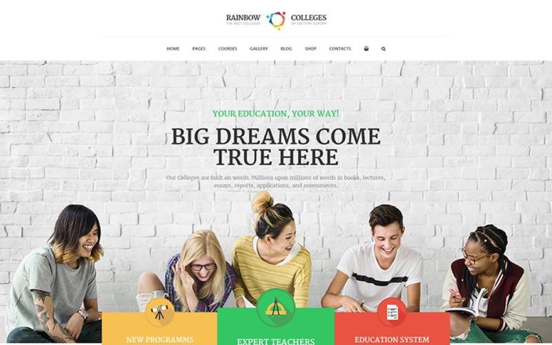 Rainbow Colleges - тема WordPress для электронного курса