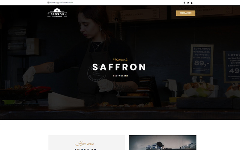 Saffron - Restaurant - Unbounce template
