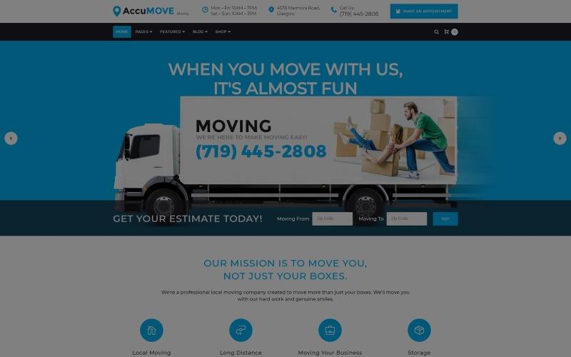 AccuMOVE! - Moving Company Responsive WordPress Theme