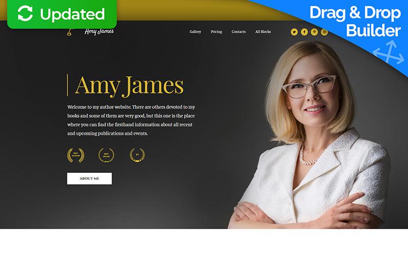Amy James - autorka knih MotoCMS 3 Šablona úvodní stránky