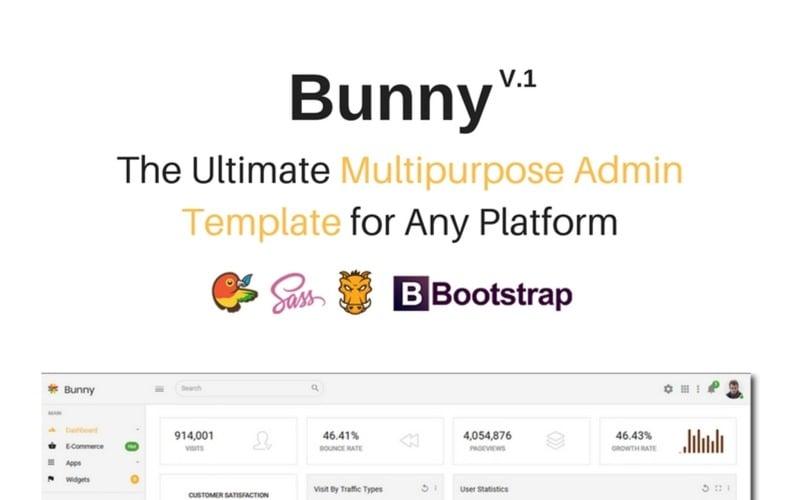 Bunny - The Ultimate Multipurpose Admin Template