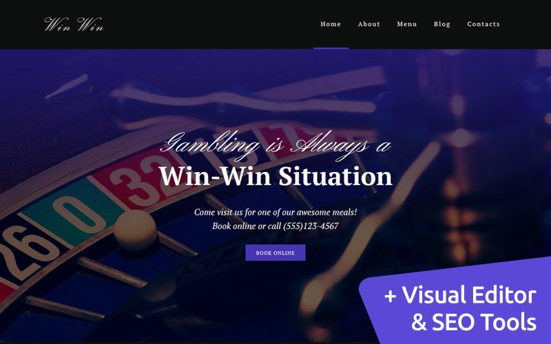 Casino Website Moto CMS 3 Template