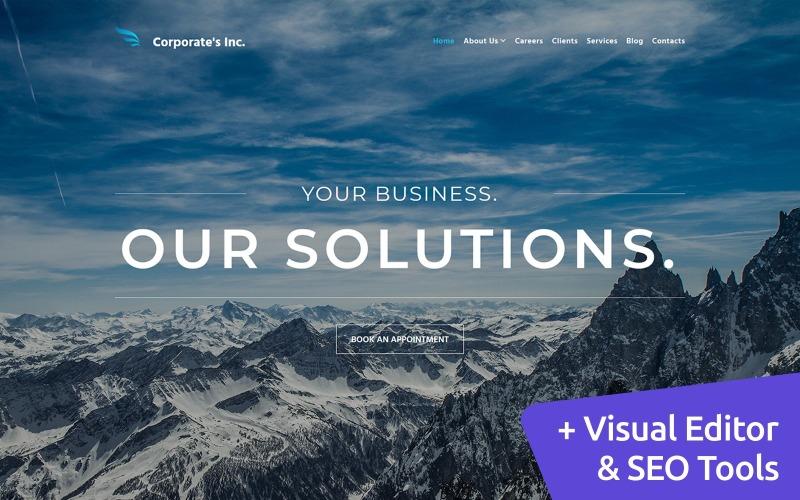 Corporates Inc - Financial Advisor Moto CMS 3 Template