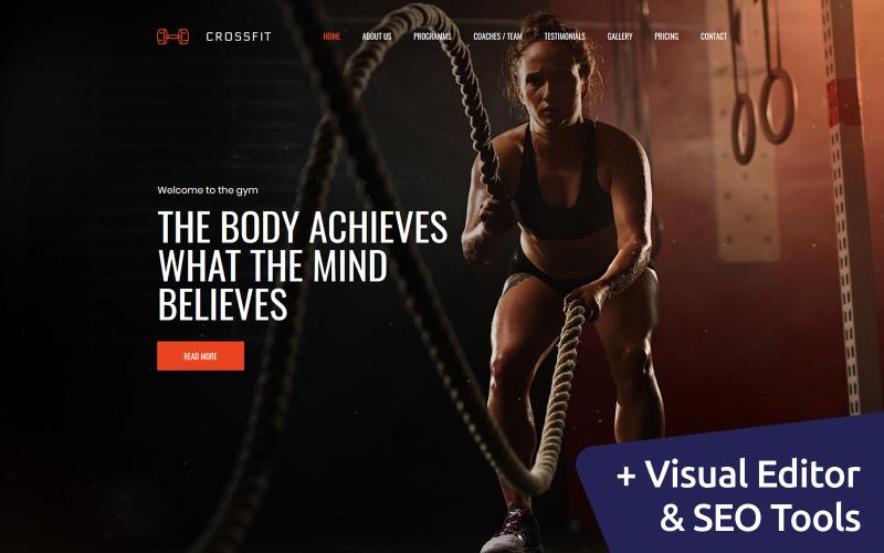 Crossfit - Fitness Club Premium Moto CMS 3 Template