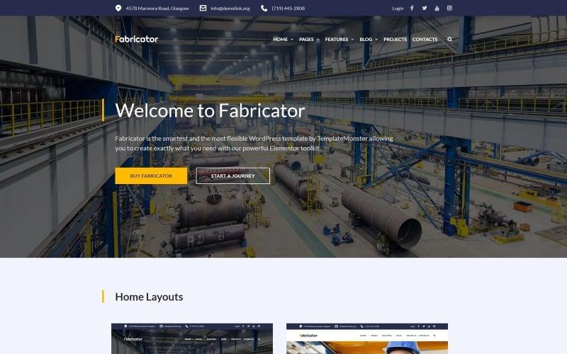 Fabricator - тема WordPress для промышленной компании Elementor