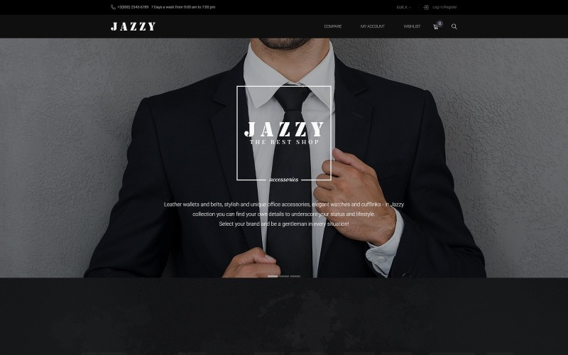 Jazzy - Mens Accessories Shop WooCommerce Theme
