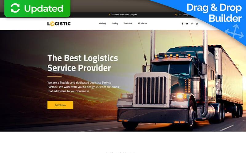 Logistic - Moving Company MotoCMS 3 Mall för målsida