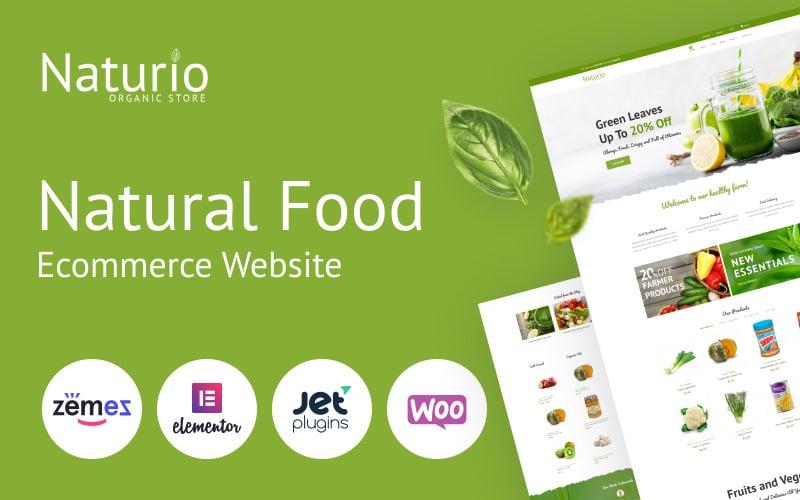 Naturio Food Store Template Elementor Thème WooCommerce