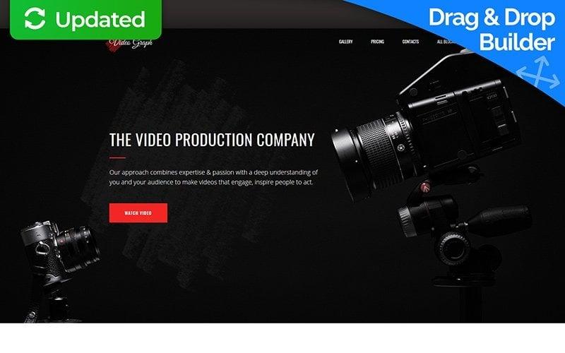 Plantilla de página de destino de Videographer MotoCMS 3