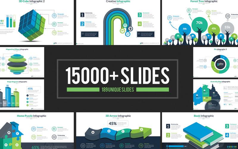 Plantilla de PowerPoint - presentación de infografía empresarial