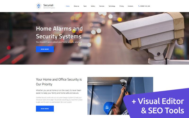Securiali - Security System Premium Moto CMS 3 Template