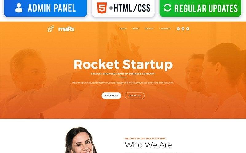 Startup MotoCMS 3 Landing Page Template