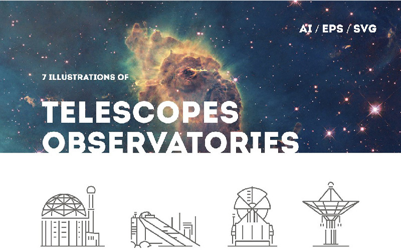 Telescopes and Observatories Logo Template