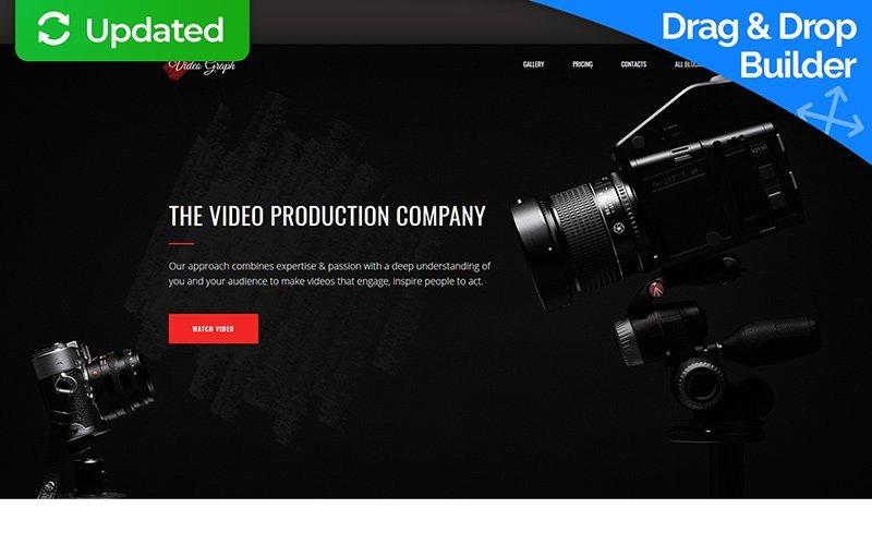 Videographer MotoCMS 3 Landing Page Template