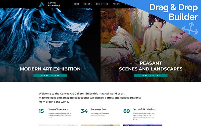 Canvas - Creative Art Gallery Moto CMS 3 Template