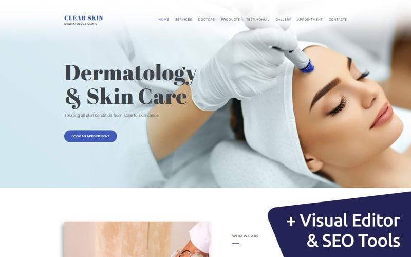 Dermatologist Clinic Moto CMS 3 Template