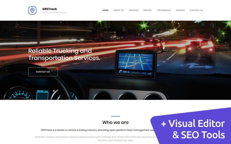 GPS Tracking Premium Moto CMS 3 Template