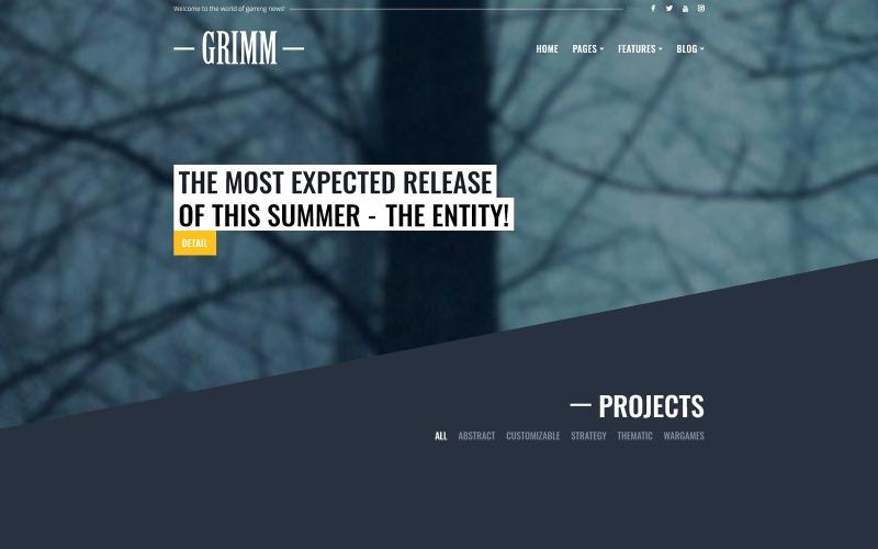 GRIMM lite - Game Development Studio WordPress Theme